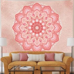 Other - Mandala Tapestry Rose Gold Floral Pink Bohemian